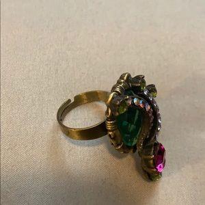 Vintage Jewelry - Vintage adjustable bling ring